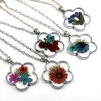 fleurs colliers