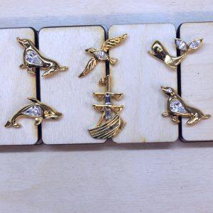 golden pins