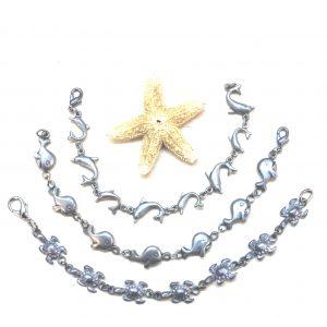 pewter dolphin bracelet